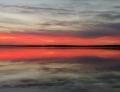 Z. Wawrzyńczyk - Zachód słońca nad zalewem w Karolinowie